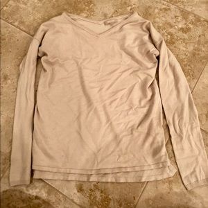 Joan Vass V-Neck Sweater Size L